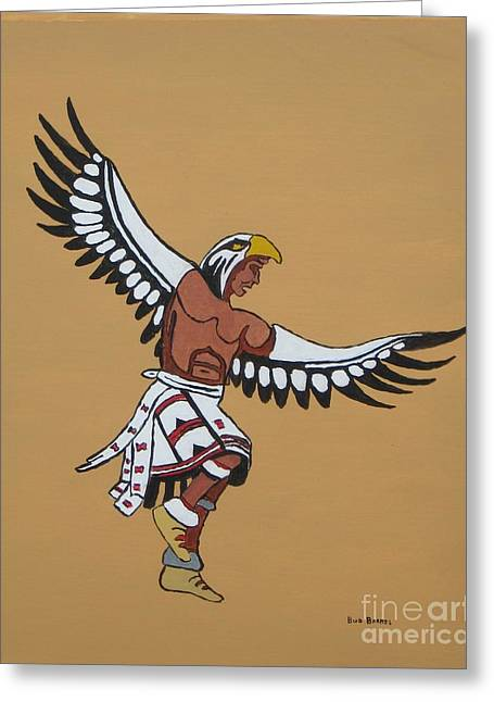 Eagle Dancer Greeting Card by Bud  Barnes