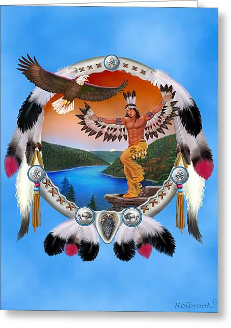 Eagle Dancer Greeting Card by Glenn Holbrook