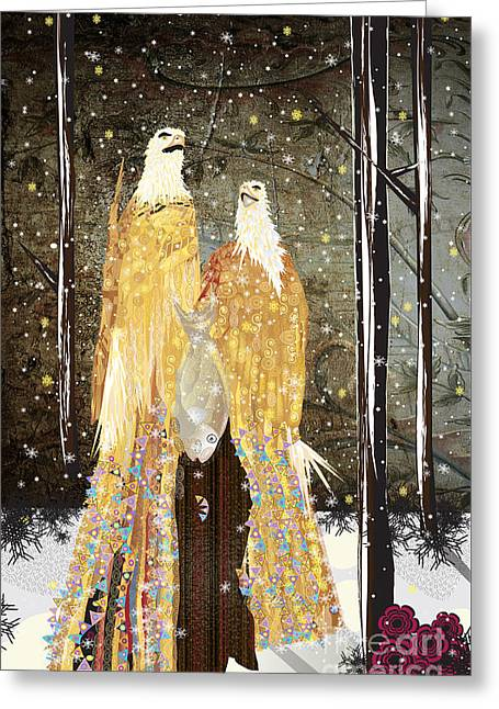 Winter Dress Greeting Card