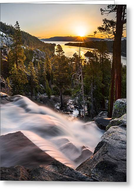 Eagle Falls California Greeting Card by Leland D Howard