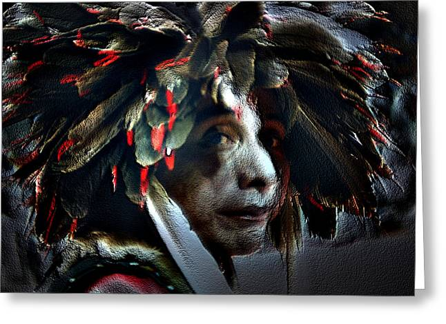 Eagle Feather Greeting Card by Irma BACKELANT GALLERIES