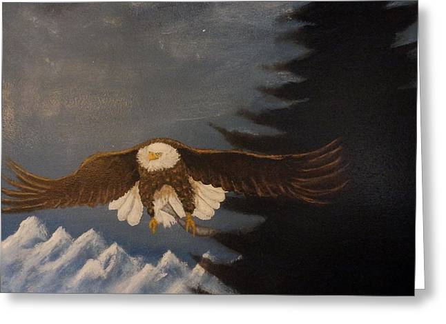 Eagle Flying Greeting Card