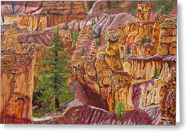 Eagle Flying In Bryce Canyon Greeting Card