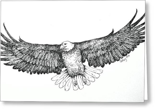 Eagle In Flight Greeting Card