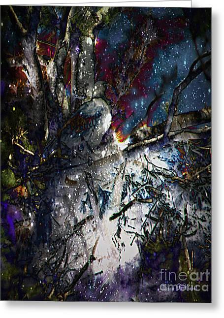 Eagle In Winter Greeting Card by Nancy TeWinkel Lauren