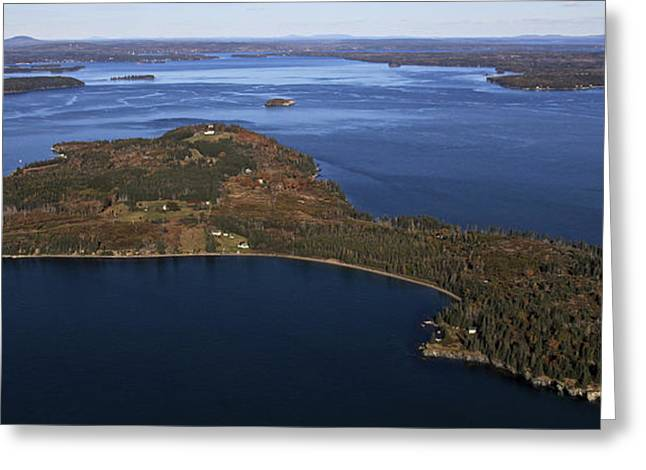 Eagle Island, Penobscot Bay Greeting Card by Dave Cleaveland