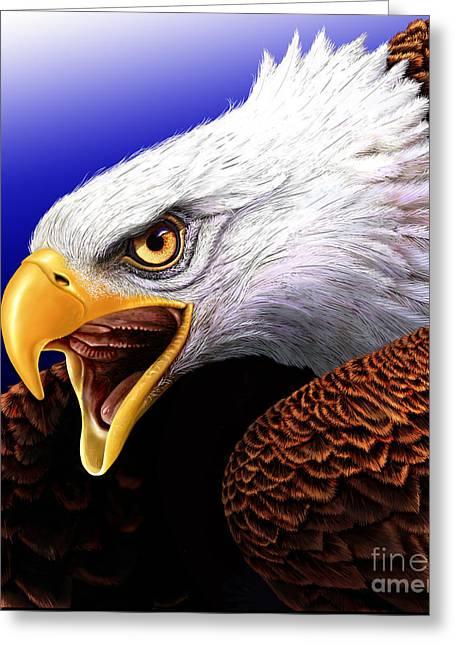 Eagle Greeting Card by Jurek Zamoyski