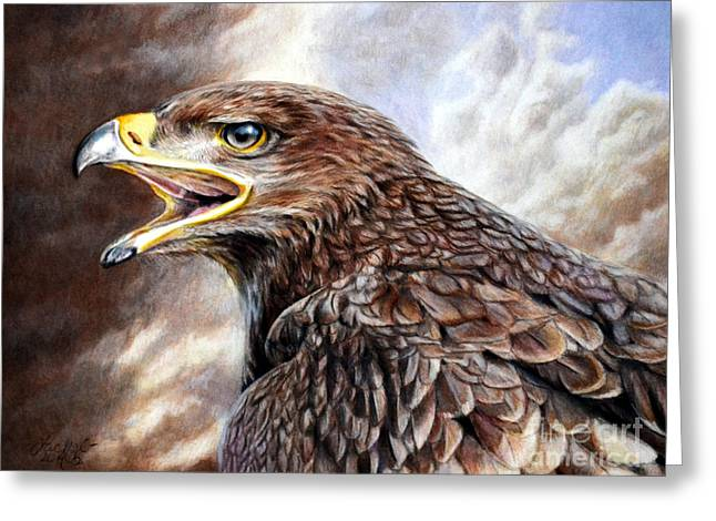 Eagle Cry Greeting Card