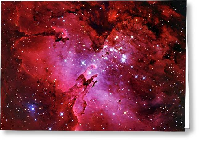 Eagle Nebula Greeting Card by Adam Block/mount Lemmon Skycenter/university Of Arizona