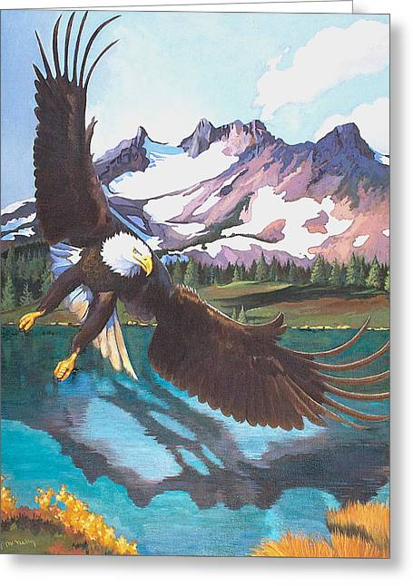 Eagle Oregon Lake Greeting Card