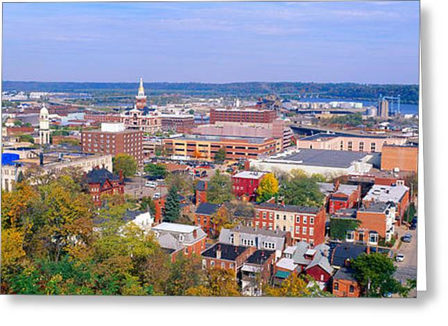 Point Park Greeting Cards - Eagle Point Park, Dubuque, Iowa Greeting Card by Panoramic Images