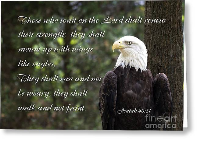 Eagle Scripture Isaiah Greeting Card
