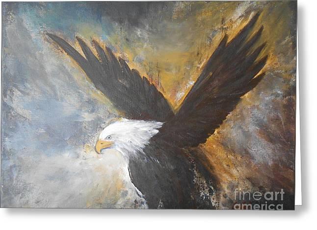 Eagle Spirit 2 Greeting Card by Jane  See
