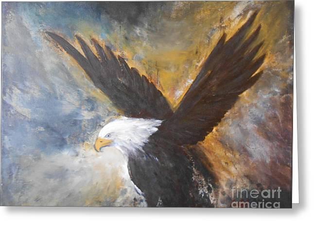 Eagle Spirit Greeting Card by Jane  See