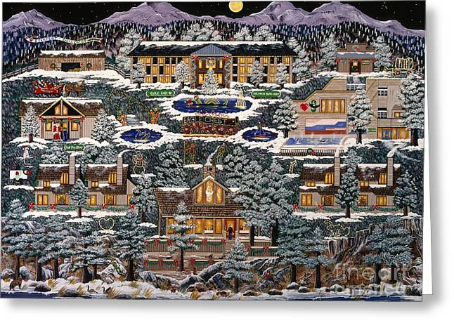Greeting Card featuring the painting Eaglecrest Resort by Jennifer Lake