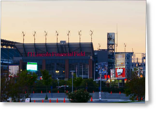 Eagles Football At The Linc Greeting Card by Bill Cannon