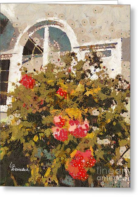 Alameda Roses Greeting Card by Linda Weinstock