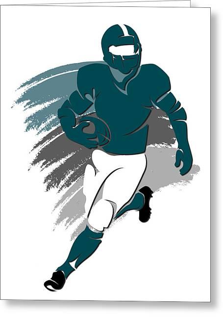 Eagles Shadow Player2 Greeting Card by Joe Hamilton