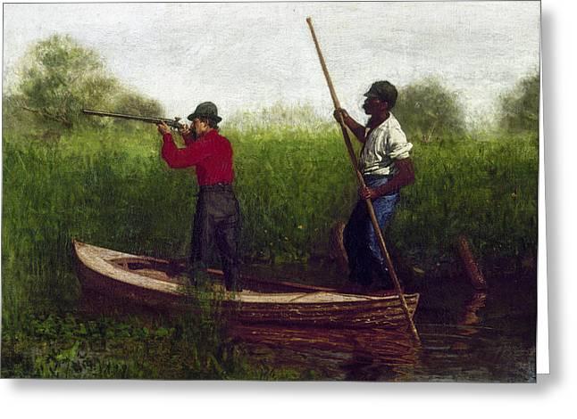 Eakins Bird Hunting, 1876 Greeting Card