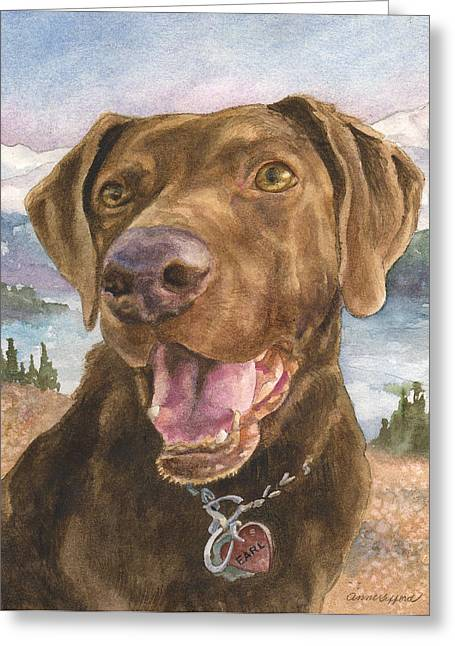 Earl Greeting Card by Anne Gifford