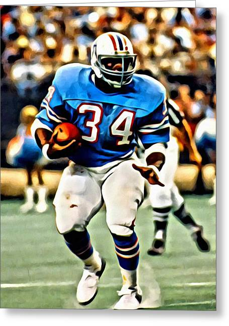 Earl Campbell Greeting Card