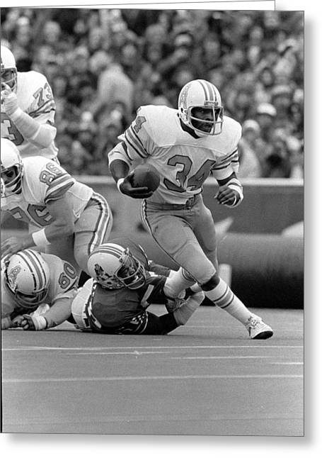 Earl Campbell Greeting Card by Gianfranco Weiss