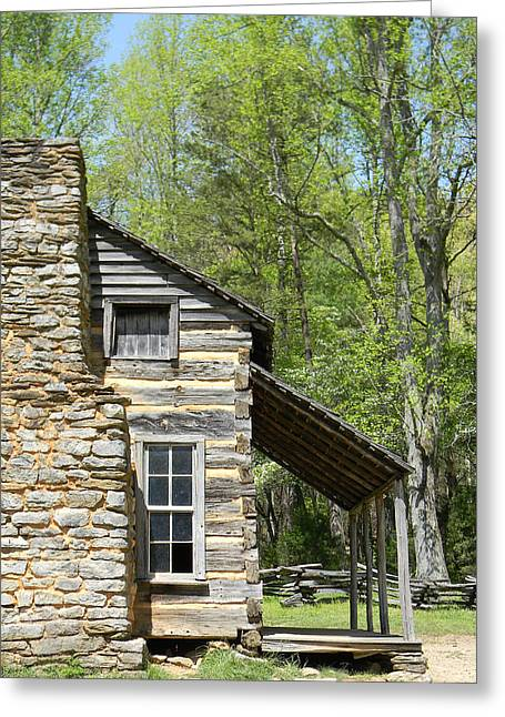 Early Appalachian Home Greeting Card by Mark Minier