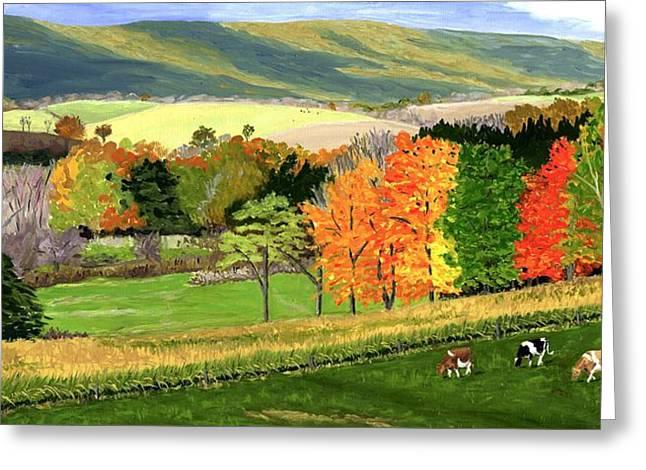 Early Autumn At Bear Meadows Farm Greeting Card