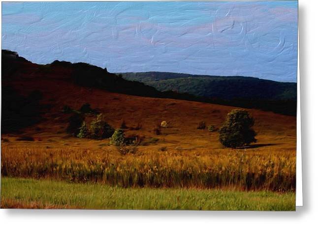 Early Autumn Field Greeting Card