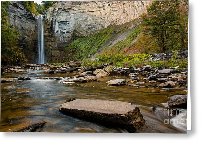 Early Autumn Morning At Taughannock Falls Greeting Card