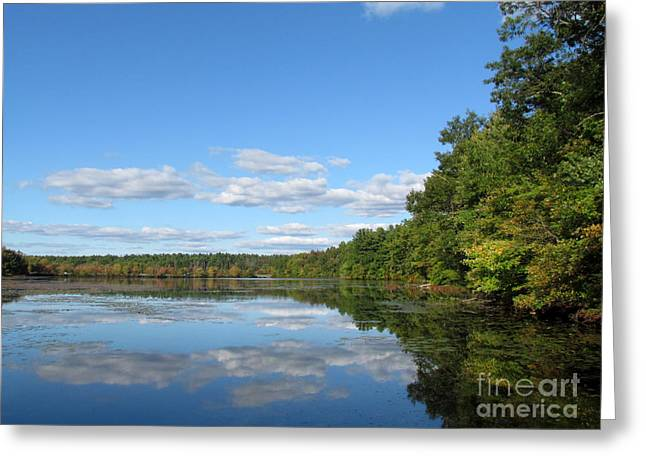 Early Autumn Scituate Reservoir Greeting Card