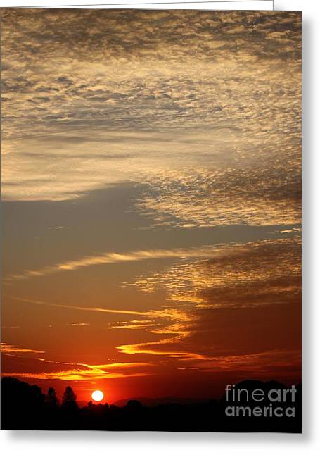 Early Autumn Sunset Greeting Card