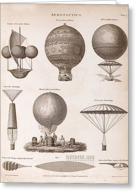 Early Balloon Designs Greeting Card