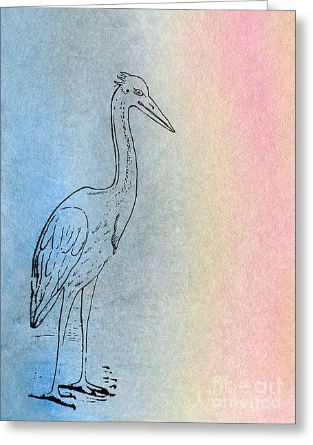 Early Crane Greeting Card by R Kyllo