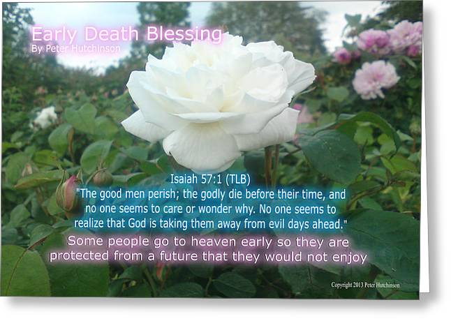 Early Death Blessing Greeting Card by Bible Verse Pictures