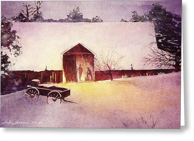 Early Evening Greeting Card by John  Svenson