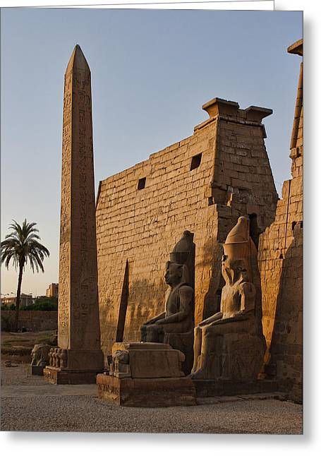 Early Evening Light At Karnak Temple Greeting Card