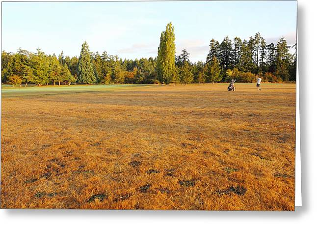 Early Fall Morning In The Rough On The Golf Course Greeting Card