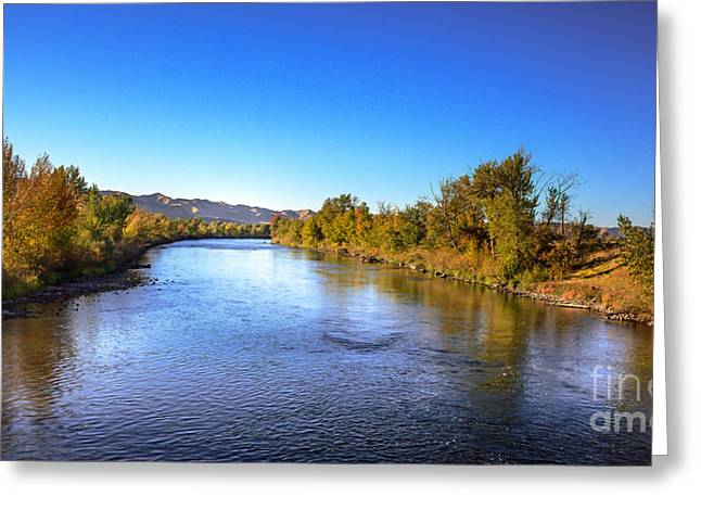 Early Fall On The Payette River Greeting Card