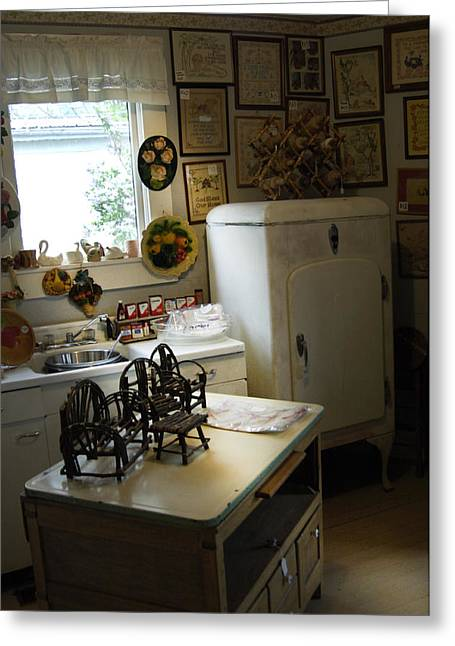 Early Fifty's Kitchen Greeting Card by Randall Branham