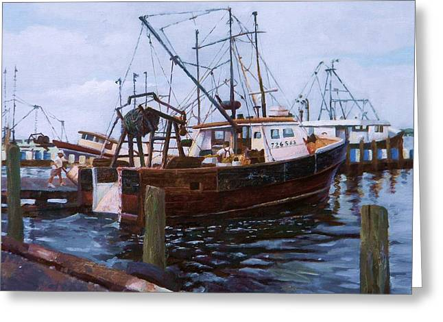 Early Harbor Morning Greeting Card
