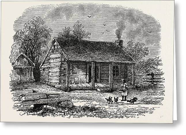 Early Home Of Abraham Lincoln, Gentryville Greeting Card by American School