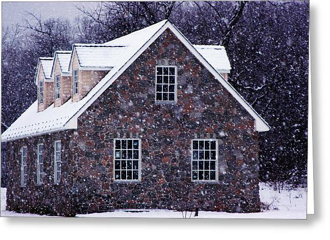 Greeting Card featuring the photograph Early January Snow In Maryland by Andy Lawless