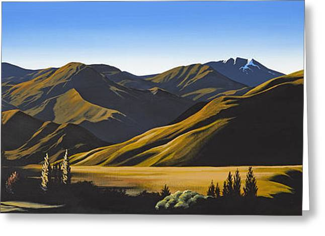 New Zealand Lindis Pass By Linelle Stacey Greeting Card by Linelle Stacey