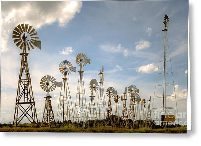 Early Model Wind Farm Greeting Card