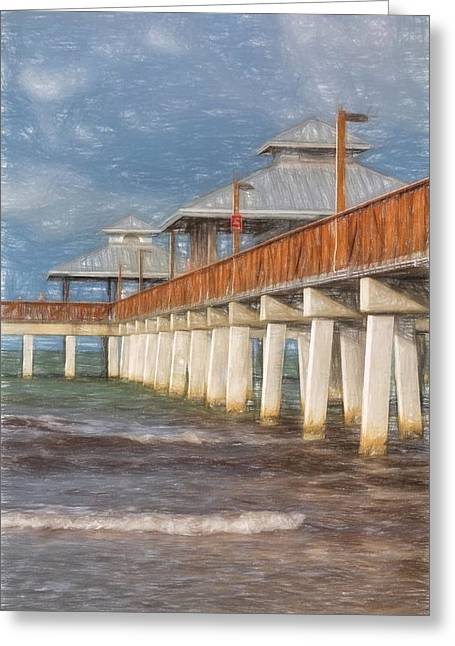 Early Morning At Fort Myers Beach Greeting Card by Kim Hojnacki