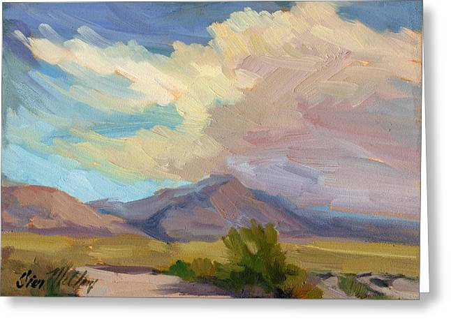 Early Morning At Thousand Palms Greeting Card by Diane McClary