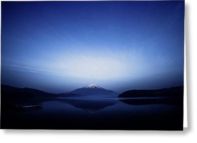 Early Morning Blue Symbol Greeting Card by Takashi Suzuki