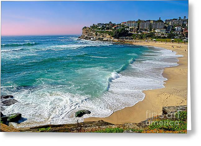 Early Morning Bronte Beach By Kaye Menner Greeting Card