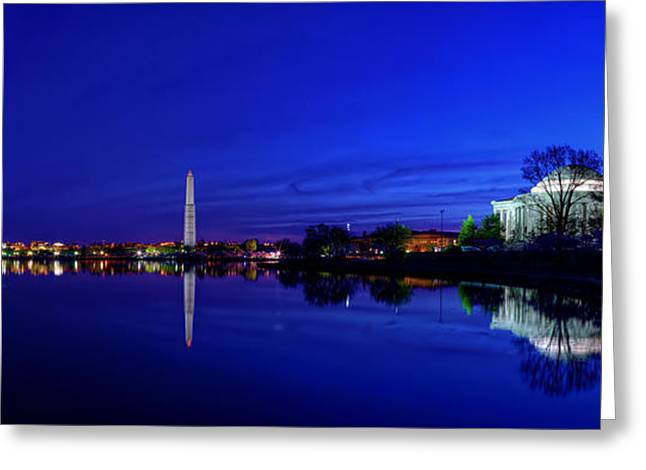 Early Morning Cherry Blossoms Greeting Card by Metro DC Photography